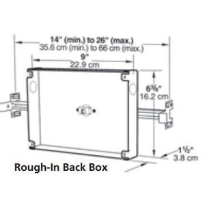 "Honeywell RBB Remote Battery Box Accessory Cabinet, Size: 16 x 10 x 6"""