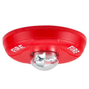 Honeywell SCR Strobe, Indoor, Ceiling Mount, 12/24VDC, Red