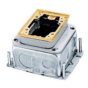 Hubbell - Electrical B2427 1-g Rect Steel Fb, Deep, Full Adj,brs