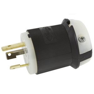 Hubbell - Electrical HBL2611 Locking Plug, 30A,  125V, 2P3W