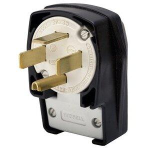 Hubbell - Electrical HBL7303C Plug, 4p4w, 60a 120/208v, 18-60r, Bk