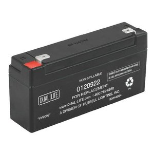 Hubbell - Lighting 0120922 Rechargeable Sealed Lead Acid Battery, 6V