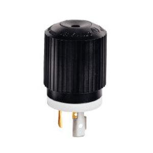 Hubbell-Bryant 71030NP Lkg Plug, 30a 125/250v, L10-30p,b/w