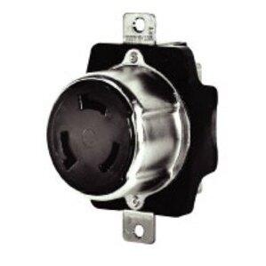 Hubbell-Bryant 7379 Locking Receptacle, Non-NEMA, 50A, 250VDC, 600VAC, 3P4W