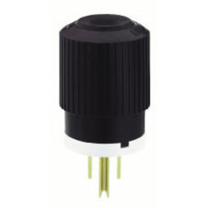 Hubbell-Bryant BRY5266NP Straight Blade Plug, 15A, 125V, White/Black, 2P3W, Heavy Duty