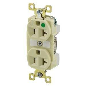 Hubbell-Bryant BRY8300I Duplex Conv Outlet