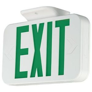 Hubbell-Dual-Lite CEG Emergency Exit Sign, Green Letters, Universal Face