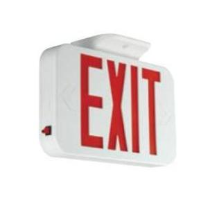 Hubbell-Dual-Lite CERRC Exit Sign, LED, Remote Capacity, White, Red Letters, 120/277V