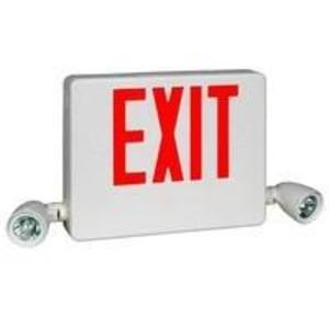 Hubbell-Dual-Lite HCXUGW Emergency Light/Exit Sign Combo, Halogen