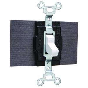 Hubbell-Kellems 1221W Single Pole Switch, 20A, 120/277VAC, White