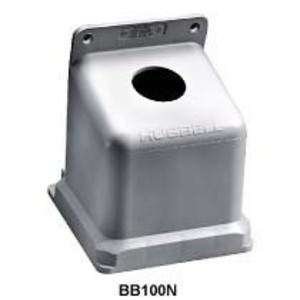 "Hubbell-Kellems BB100N Back Box, Thermoplastic, 15 Deg Angle, 1-1/2"" Hub, 100A"