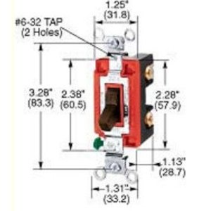 Hubbell-Kellems CS120I Specification Grade Switch, Single Pole, 20A, Ivory