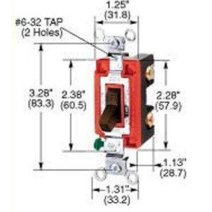 Hubbell-Kellems CS120W Single Pole Switch, 20A, 120/277VAC, White