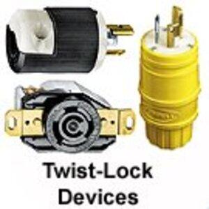 Hubbell-Kellems CS8365C Locking Plug, 50A, 3PH 250V, California Style, 3P4W
