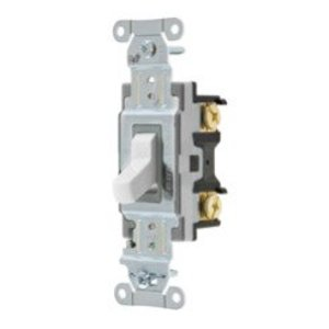 Hubbell-Kellems CSB115W Single Pole Switch, 15A, 120/277V, Spec Grade Commercial, White