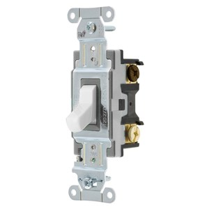 Hubbell-Kellems CSB320W Specification, Commercial Switch, Three Way, 20A, White