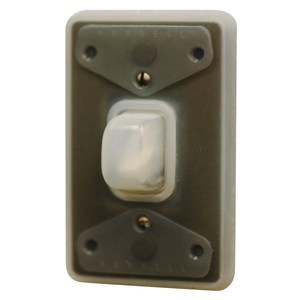 Hubbell-Kellems HBL1795 Weatherproof Plate, For Use With Toggle Switch, Silicone Rubber