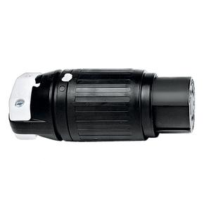 Hubbell-Kellems HBL3762C Non-NEMA Locking Connector, 50A, 250VDC/600VAC, 2P3W, Black