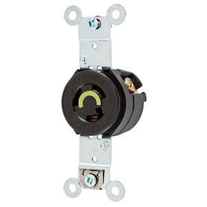 Hubbell-Kellems HBL4710 Twist-Lock Single Receptacle, 15A