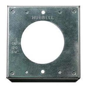 Hubbell-Kellems HBL50SC Square Cover, 1-Gang, Steel, Raised