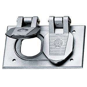 Hubbell-Kellems HBL5206WO Weatherproof Cover, 1-Gang,  Duplex