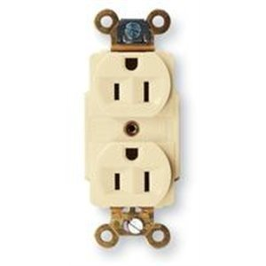 Hubbell-Kellems HBL5262 Duplex Receptacle, 15A, 125V, Brown, Industrial Grade