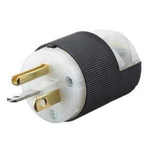 Hubbell-Kellems HBL5366C Straight Blade Insulgrip Plug, 20A