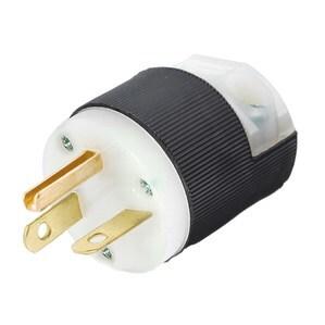 Hubbell-Kellems HBL5466C Straight Blade Insulgrip Plug, 20A