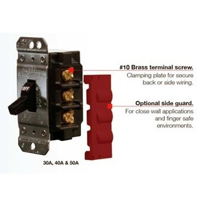 Hubbell-Kellems HBL7832D  Manual Motor Controller, Standard Toggle