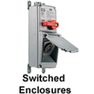 Hubbell-Kellems HBLMITL Disconnect Switch, Enclosure, for 20-30A, Twist-Lock Receptacle