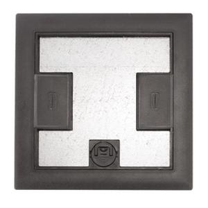 Hubbell-Kellems LCFBCBKA Floor Box Cover, Non-Metallic, Reinforced, Black