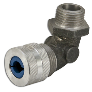 """Hubbell-Kellems NHC1023 1/2"""" Male Cord Connector, 90°, Aluminum, Blue"""