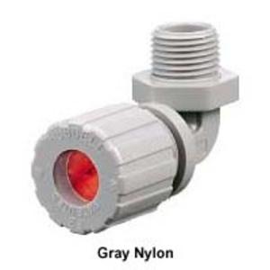 "Hubbell-Kellems NHC1035CR Cord Connector, 90°, Hub: 3/4"", Cord Range: 0.38 - 0.50"", Nylon"