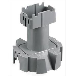 Hubbell-Kellems PFBT1A Floor Box, Round, Low Voltage Divider, PVC