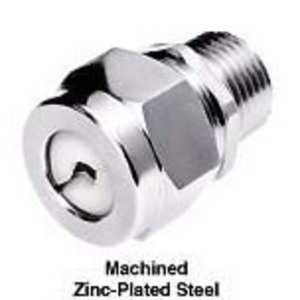 """Hubbell-Kellems SHC1022ZP 1/2"""" Steel Straight Cord Connector, F2 Form, Zinc-Plated, 0.25-0.38"""""""