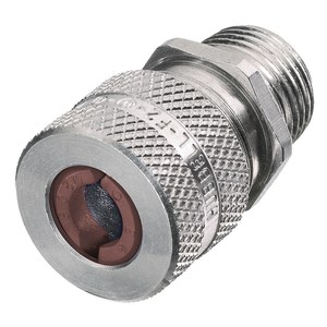 """Hubbell-Kellems SHC1024 Straight Cord Connector, 1/2"""", Straight, Male, Aluminum"""