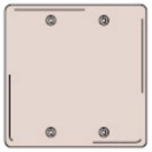 Hubbell-Kellems SS23 Blank Wallplate, 2-Gang, Stainless Steel