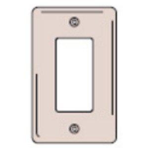 Hubbell-Kellems SS26 Decora Wallplate, 1-Gang, 302 Stainless Steel