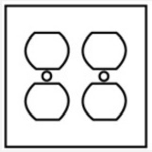 Hubbell-Kellems SS82 Duplex Receptacle Wallplate, 2-Gang, Stainless Steel