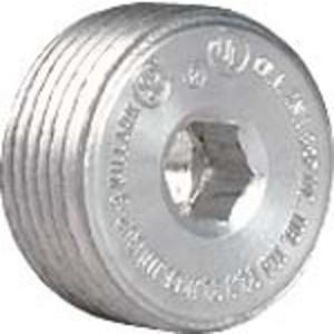 "Hubbell-Killark CUP-2 Close-Up Plug, Recessed Head, 3/4"", Explosionproof, Aluminum"