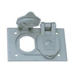 Hubbell-Killark FCLA2 Duplex Cover W/2 Flip Covers