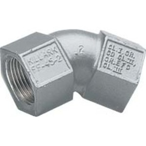 "Hubbell-Killark FF-45-1-EX Elbow, 45°, 1/2"", Female/Female, Explosionproof, Aluminum"