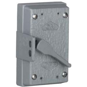 Hubbell-Killark FZ8647 Toggle Switch Cover, 1-Gang, Aluminum