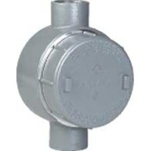 "Hubbell-Killark GEMC-1 Conduit Outlet Box, Type GEMC, (2) 1/2"" Hubs, Aluminum"