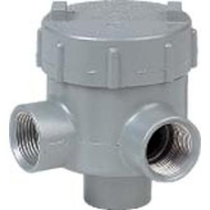 "Hubbell-Killark GEMLA-2 Conduit Outlet Box, Type GEMLA, (3) 3/4"" Hubs, Aluminum"
