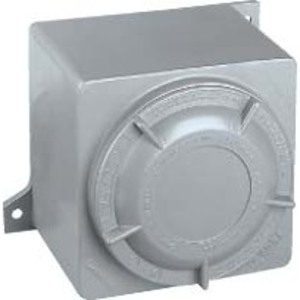 Hubbell-Killark GRM Conduit Outlet Box with Blank Cover, Type: GRM, Aluminum