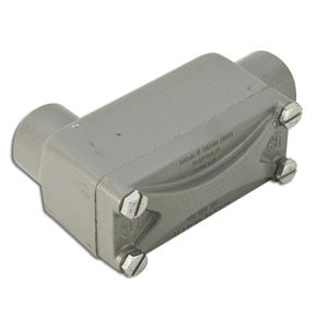 "Hubbell-Killark XLB-2 Explosionproof Conduit Body, Type: LB, 3/4"", Aluminum"