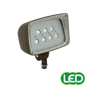 Hubbell-Outdoor Lighting FSL-7 Flood Light, LED, 7-Light, 26.5W, 120-277V, 5000K, Bronze