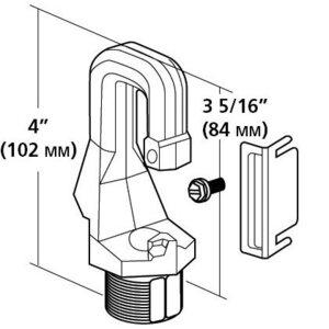 """Hubbell-Outdoor Lighting HOOKLOOP Hook Loop, Male, 3/4"""""""