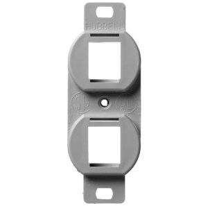 Hubbell-Premise BR106G PLATE, FRAME,DUP,2 P,GY